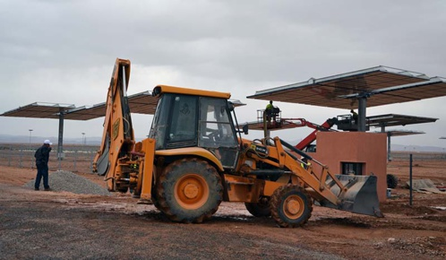Noor Ouarzazate Iii Solar Power Plant Emerging From The Ground