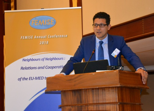Zakaria Fahim in Malta Femise annual conference (photo : F.Dubessy)
