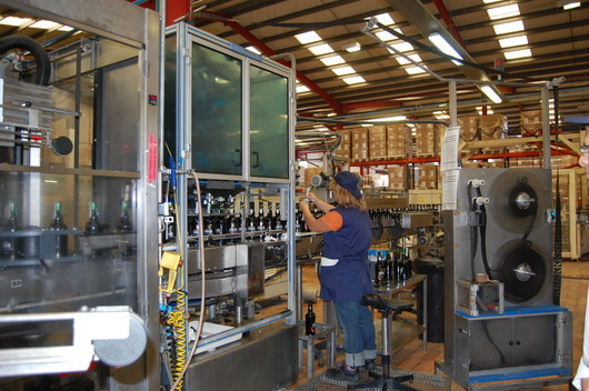 The Porto Cruz bottling line (photo Marie-Line Darcy)