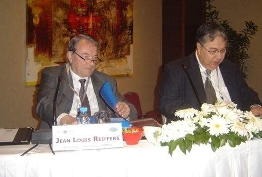 Jean-Louis Reiffers (Femise) and Khalid Sekkat (FEMISE/ERF), organisers of the Istanbul seminar (Photo: F. Dubessy)
