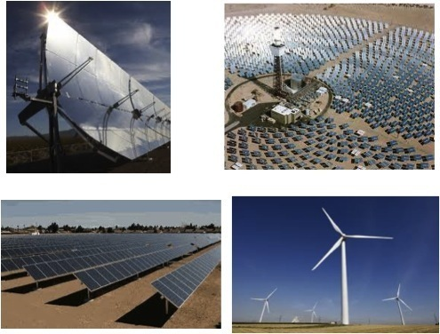 The technology of concentrated solar plan on mirrors, developed in the 2000's is the most promising. (Photo D.R)