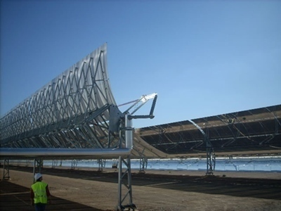 Concentrating Solar Power Plant in Spain. The Mediterranean Strategy for Sustainable Development did not anticipate technological innovation in 2005 (photo DR)