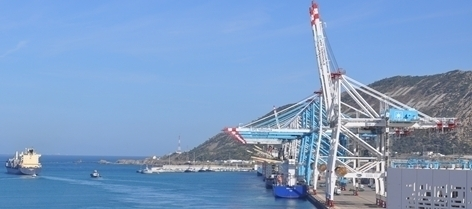 The Tangier Med port complex, a future link in the LOGISMED chain (photo C.Garcia)