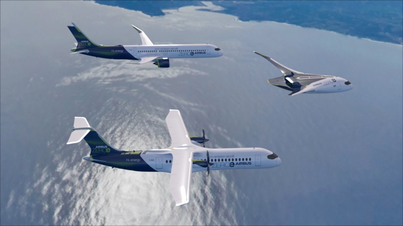 Airbus is developing several hydrogen-powered models (photo: Airbus)