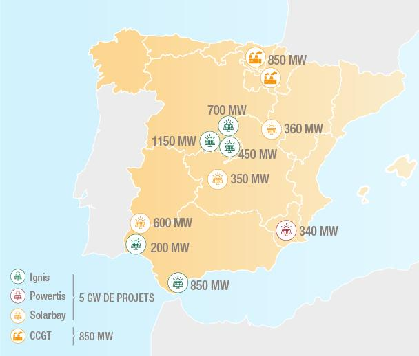 Total's Spanish solar projects cover almost all of Spain (map: Total)