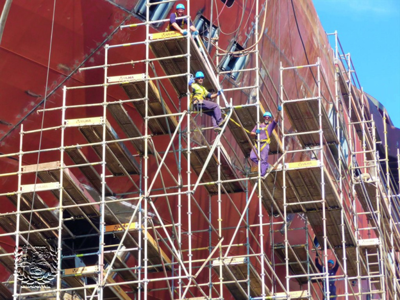 The former employees of the ship repair industry, here in Vigo in 2018, will be able to retrain (photo: DR)