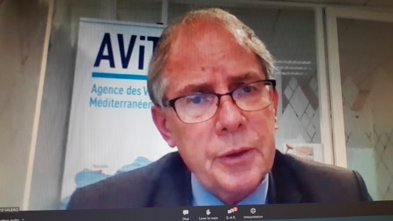 Bernard Valero welcomes the resilience of Mediterranean ports (Photo: screenshot/F.Dubessy)