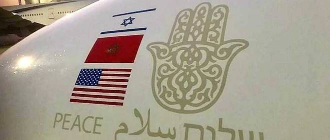 The Tel Aviv-Rabat plane carried the three flags (photo: DR)