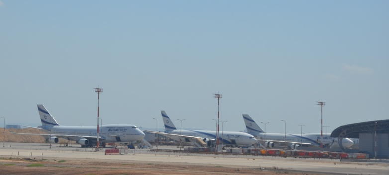 El Al's planes are grounded (photo : F.Dubessy)
