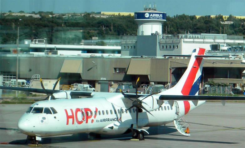 Hop! the regional subsidiary of Air France, is going to be greatly affected by these redundancies (photo: B.L.).
