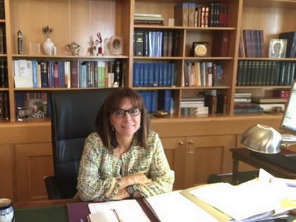 Ekaterini Sakellaropoulou will officially take office in March 2020 (photo: Hellenic Council of State).
