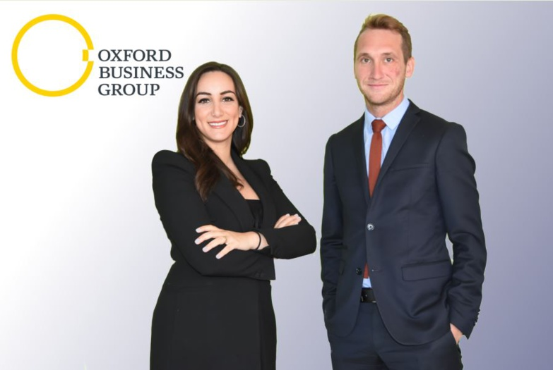 Oumnia Boualam and François Farne form the new team of Oxford Business Group Morocco (photo: OBG)
