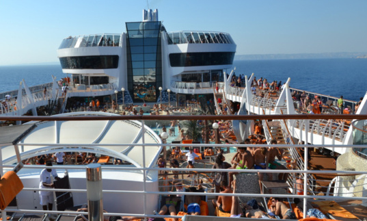 2012 show an increase in the number of cruise passengers compared to 2011 (photo F.Dubessy)