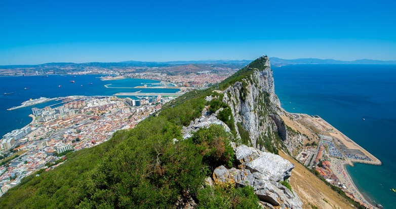 Gibraltar stands in the extreme South of Spain, opposite Morocco (photo: Gibraltar Tourist Office).
