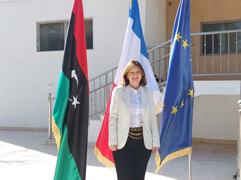 Béatrice le Fraper du Helen, Ambassador of France to Libya was able to return to her embassy in Tripoli (photo: Embassy of France in Libya)