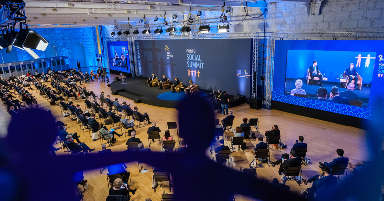 The Social Summit in Oporto agreed on the objectives to be followed by 2030 (photo: Portuguese Presidency of the Council of the European Union)