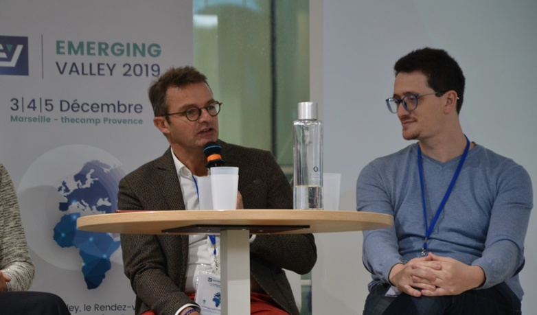 Emmanuel Noutary (Anima Investment Network) and Mehdi Alaoui (La Factory) are not only thinking about financing (photo: F.Dubessy)