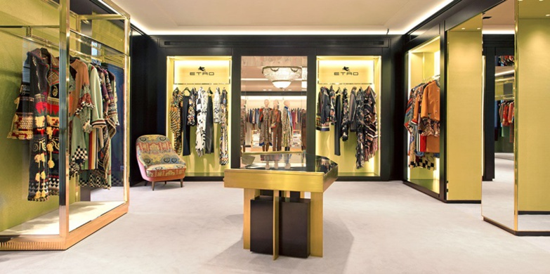 The Milanese fashion house has boutiques and outlets around the world (photo Etro)