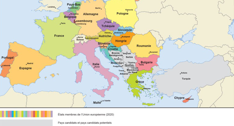 IPA III mainly concerns the Western Balkans (map: European Commission)