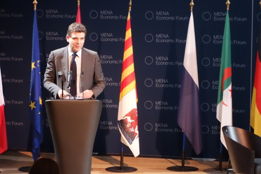 "Arnaud Montebourg, French minister for Economic Regeneration, believes that the Mediterranean countries ""share the same problems"". Photo GT"