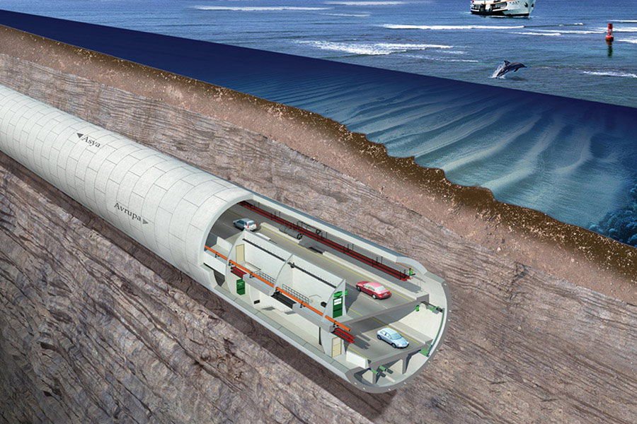 The Avryasa Tunnel has a double-deck tube (photo : Yapi Merkezi)