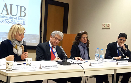 "Khater Abi Habib presented the Kafalat initiative on December 5th 2016 (Beirut) at a seminar organized by Femise on the theme of ""Unlocking the Potential of the Private Sector in South Med Countries"". ©DR"