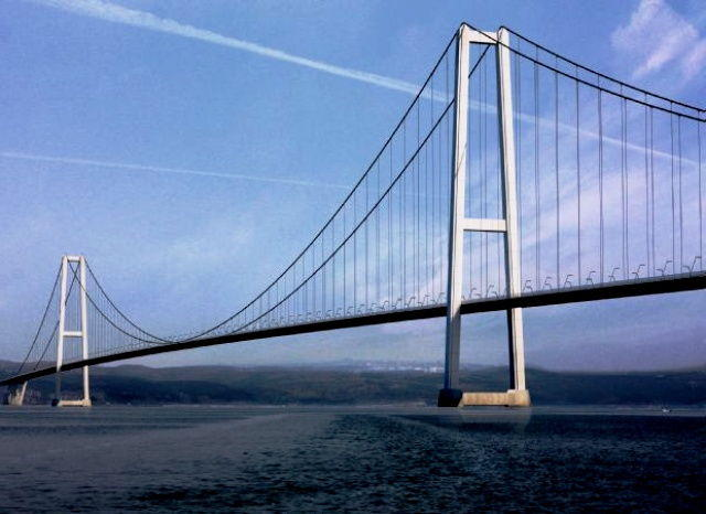 Turkey building world's longest suspension bridge