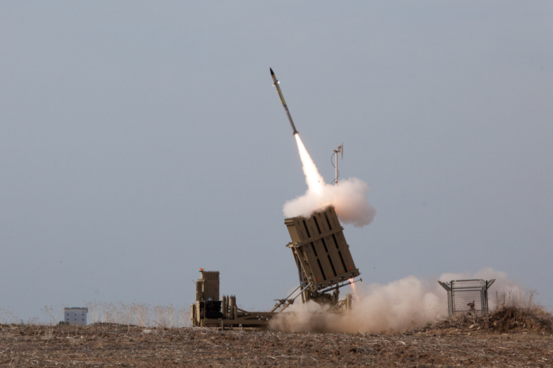 The Iron Dome system in Ashdod intercepts a rocket fired from the Gaza Strip (Photo: Israel Defense Forces)