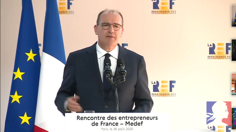 Jean Castex specified the details of the France Relance plan already announced at the Meeting of Entrepreneurs of France (photo: French Government)