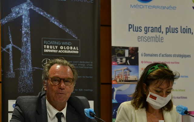 Renaud Muselier and Carole Delga together to promote offshore wind energy (photo: F.Dubessy)