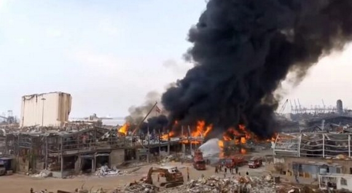 On 4 August 2020, the port of Beirut had already been devastated by two explosions (photo: DR).