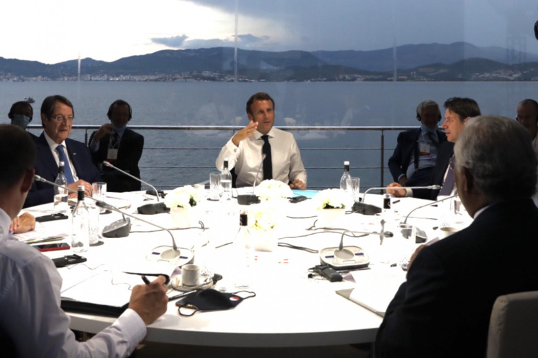 Seven countries of Southern Europe met in Corsica to discuss, mainly, the problems with Turkey (photo: Elysée).
