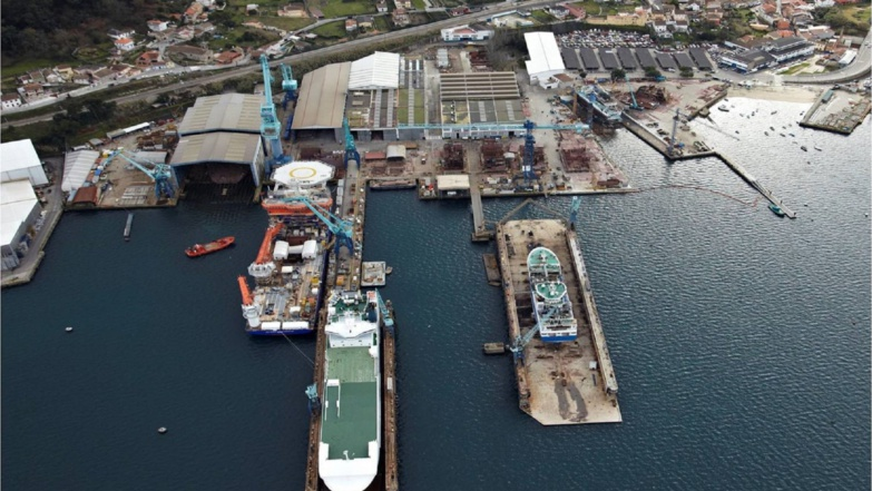 The Galician ship repair industry has had to lay off a lot (photo MetalShips)