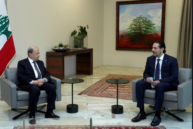 President Michel Aoun and Prime Minister-designate Saad Hariri are unable to agree on a team to lead the country (photo: Lebanese Presidency)