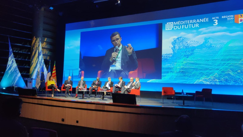 Emmanuel Noutary presented the first elements of his white paper on foreign investment during Act III of the Mediterranean of the Future in Marseille (Photo: Anima)