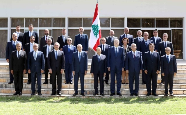 The new Lebanese government held its first meeting around President Michel Aoun (photo: Lebanese Presidency)