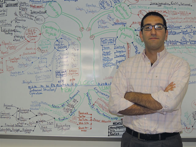Pierre El Khoury, director of the Lebanese Center for Energy Conservation (photo J.Saleh)