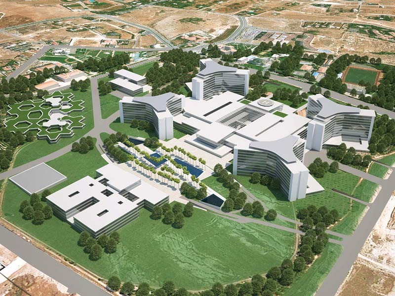 The future hospital at Gaziantep on Turkey's border with Syria will help provide healthcare for Syrian refugees (photo : Kayi)