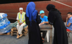 Water distribution in the port of Tripoli by UNICEF (photo: UNICEF/Giovanni Diffidenti)