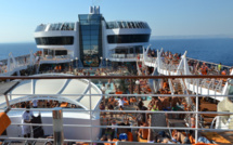 Cruise ships at anchor in the Mediterranean